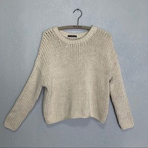 Brandy Melville chunky open knit cropped sweater